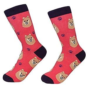 Pomeranian Dog Breed Socks Unisex Sock Daddy by E&S Pets 1