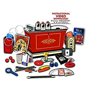 Fantasma 300+ Tricks Ultimate Magician's Magic Kit Set,Comes with a Written Instructions Manual and DVD with Demonstration for Easy Learning, Includes a Stage and Lots of Gadgets!