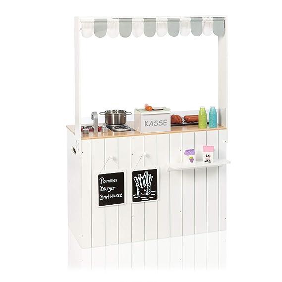 SUN Küchen  U0026 Kaufladen Kombi Street Food Kitchen (Weiß Grau): Amazon.de:  Spielzeug