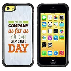 Paccase / Suave TPU GEL Caso Carcasa de Protección Funda para - Company Day Inspiring Paper Modern Message - Apple Iphone 5C