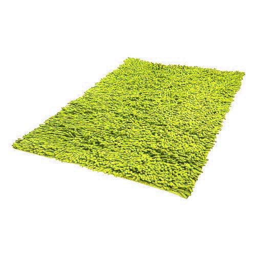 Ciniglia Shaggy bagno verde mela verde 50x 80cm in 100% cotone–Tappeto da bagno in puro cotone, morbido e assorbente pink papaya
