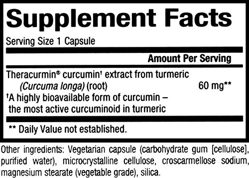 CurcuminRich by Natural Factors, Double Strength Theracurmin, Turmeric Supplement, Tumeric Supplement Joint and Heart Function, 60 Capsules (60 Servings) (FFP) by Natural Factors (Image #1)