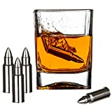 Bullet Chillers - Set of 8 - Stainless Steel Bullet Shaped Whiskey Stones