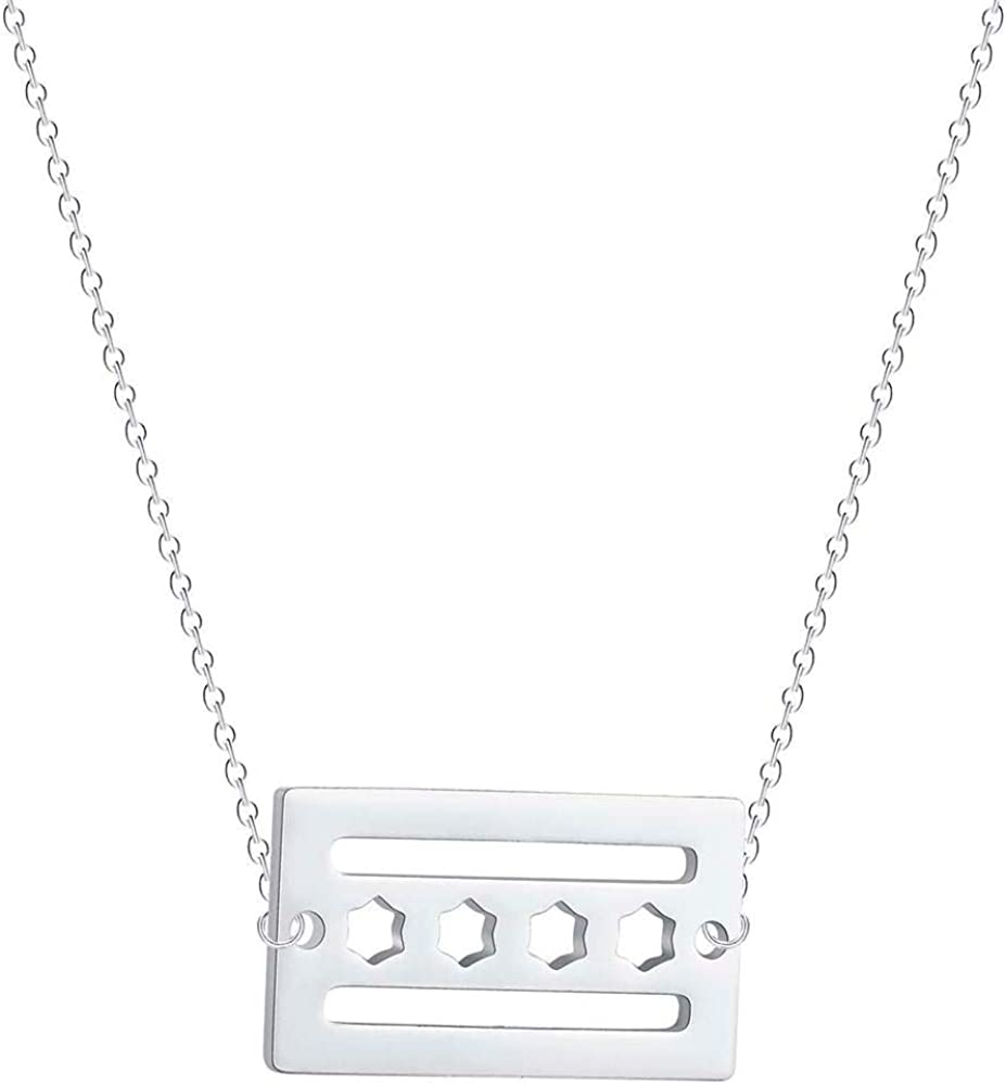 SWAOOS Chicago Flag with Stars Pendant Necklace Choker Dainty Map American USA City Flag Jewelry Birthday Gift Collier Femme