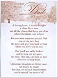 Grave Card - Loving Memories Of A Special Dad At Christmas time - Free Card Holder - CM10