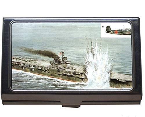 Professional Business Card Case,Aircraft Carrier Japanese Aircraft Carrier Taiho Business Card Case for Men and Women (Stainless Steel)