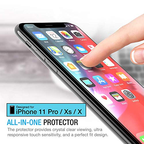 Maxboost Screen Protector for Apple iPhone Xs & iPhone X & iPhone 11 Pro (3 Packs, Clear) 0.25mm Tempered Glass Screen…