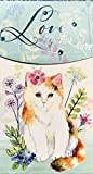 love kitty gems - Punch Studio Silver Foil Gem Embellished Long Notepad, Kitty Cat Love Grows Here 63331