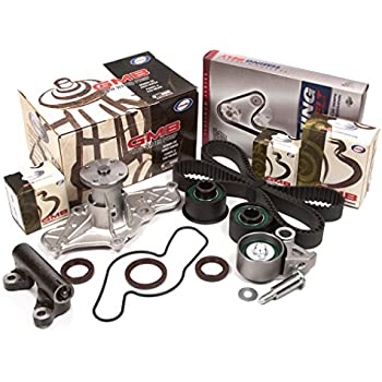 Evergreen TBK214CHWP 92-94 Mazda 626 MX6 Ford Probe 1.8L 2.5L KL Timing Belt Kit GMB Water Pump