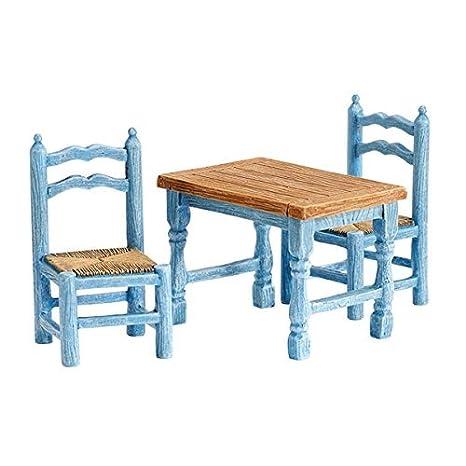 Amazon.com: Granja miniatura de juego de mesa y sillas, 3 ...