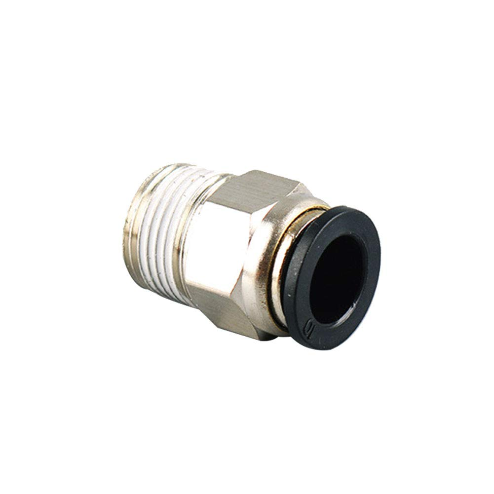 Pack of 10 Beduan Pneumatic BPC Push to Connect Air Pipe Fittings Male Straight 4mm Tube OD x 1//8 NPT Thread