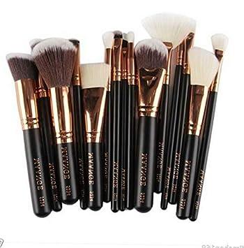 a0a3992b0ed6 Amazon.com: Kaputar 15pcs Cosmetic Makeup Brushes Set Kabuki ...