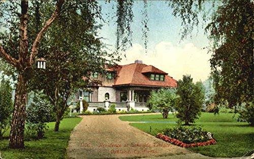 Residence At Lakeside Terrace Oakland, California Original Vintage Postcard