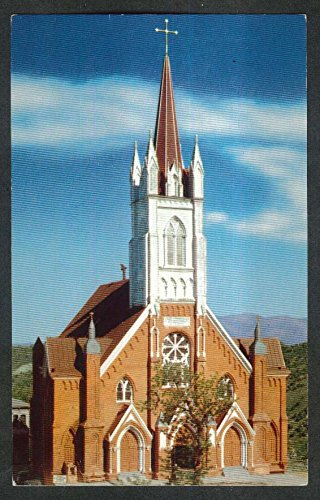 Exterior St Mary's in Mountains Virginia City NV postcard 1950s