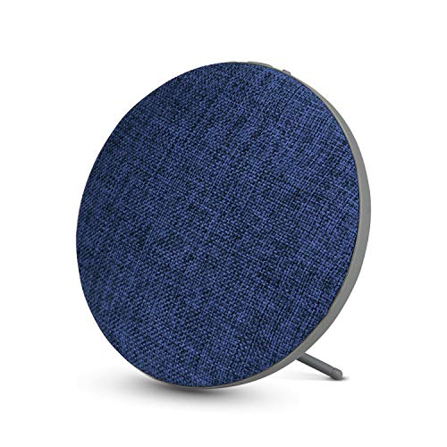 Portable Wireless Bluetooth Speaker with High Sound Quality,Bookshelf Desktop Fabric Speakers, Loud Volume,Rich Bass,Microphone,Hands-Free Calling,AUX Input,Suitable for Indoor&Outdoor(Blue)