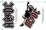 Popfunk AC/DC Angus Young Collectible Stickers