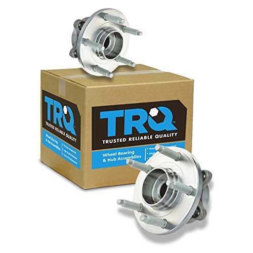 TRQ Front Wheel Hub & Bearing Left & Right Pair Set for Ford Taurus Flex MKS MKT (Bearing Front Taurus Ford Wheel)