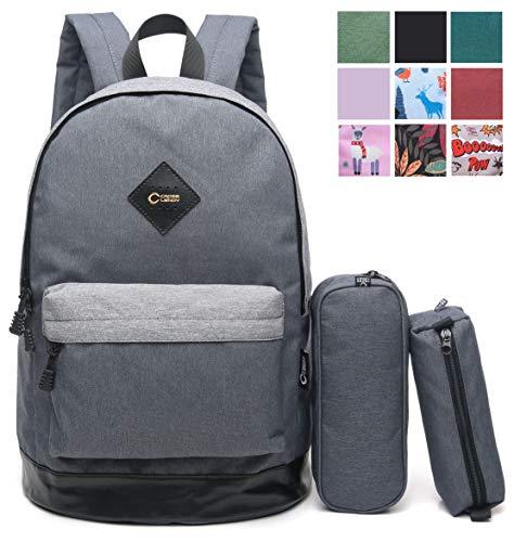 (CrossLandy Classic School Bookbag Lightweight College 15 Laptop Backpack)