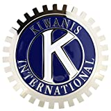 CAR GRILLE CHROME EMBLEM BADGE KIWANIS