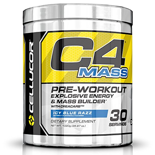 Cellucor C4 Mass Pre Workout Supplement Muscle Builder, Icy