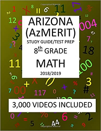 picture regarding Azmerit Printable Practice Test titled 8th Quality ARIZONA AzMERIT, MATH, Try Prep: 2019: 8th Quality