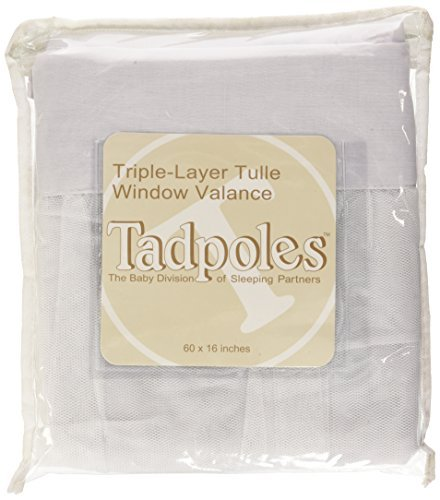 Tadpoles Window Valance White Tulle Garden at Home DVLATL0