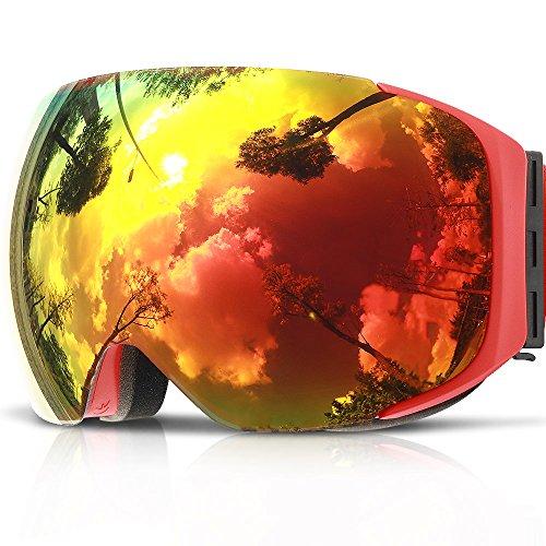 Ski Goggles,COPOZZ G2 Magnetic Ski Snowboard Snow Goggles - Quick Interchangeable Double Lens Anti Fog UV400 Over Glasses OTG Helmet Compatible - For Men Women Youth Unisex skiing - Goggles Brands Snow