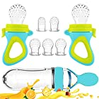 Baby Food Feeder, Fresh Food 2 Pack Fruit Feeder Pacifier – 5 Different