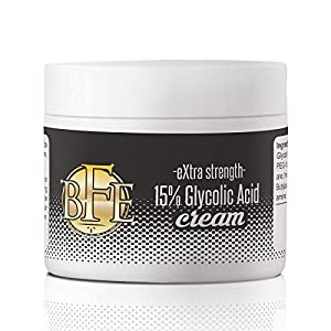 Glycolic Acid 15% Anti-Wrinkle Cream- Extra strength, Alpha Hydroxy Acid enhanced with Green Tea Extract that improves your complexion as it safely and aggressively smoothes out fine lines and wrinkles.