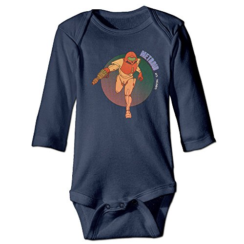 Price comparison product image Metroid Nes Gba Infant Bodysuits Jumpsuit Onesies Navy