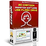 Cartoon Animation Software 2D Video Creator Cartoonizer Beginner Easy & Professional Editing Windows PC Mac Linux App Synfig Studio 16Gb USB