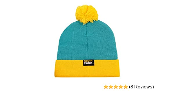 9d7dce3d8ef Amazon.com  CONCEPT ONE South Park Eric Cartman Cosplay Knit Beanie Hat  Turquoise