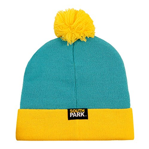 CONCEPT ONE South Park Eric Cartman Cosplay Knit Beanie Hat Turquoise, Yellow]()