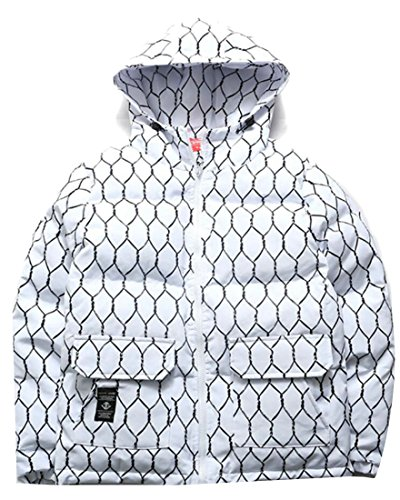 Coat amp;W White Bread Hooded Men's Down amp;S Outerwear Sleeve Long M B5xqgw8Z