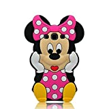For Samsung G530 Classic 3D Cute Cartoon Figure Soft Silicone Gel Rubber Case Cover Skin for Samsung Galaxy Grand Prime G530 (Pink 3D Minnie Mouse)