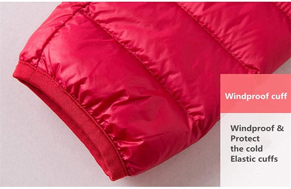 HuntDream Women's Lightweight Down Jacket Packable Quilted Heatkeep Puffer Jacket with Travel Bag Hooded-red