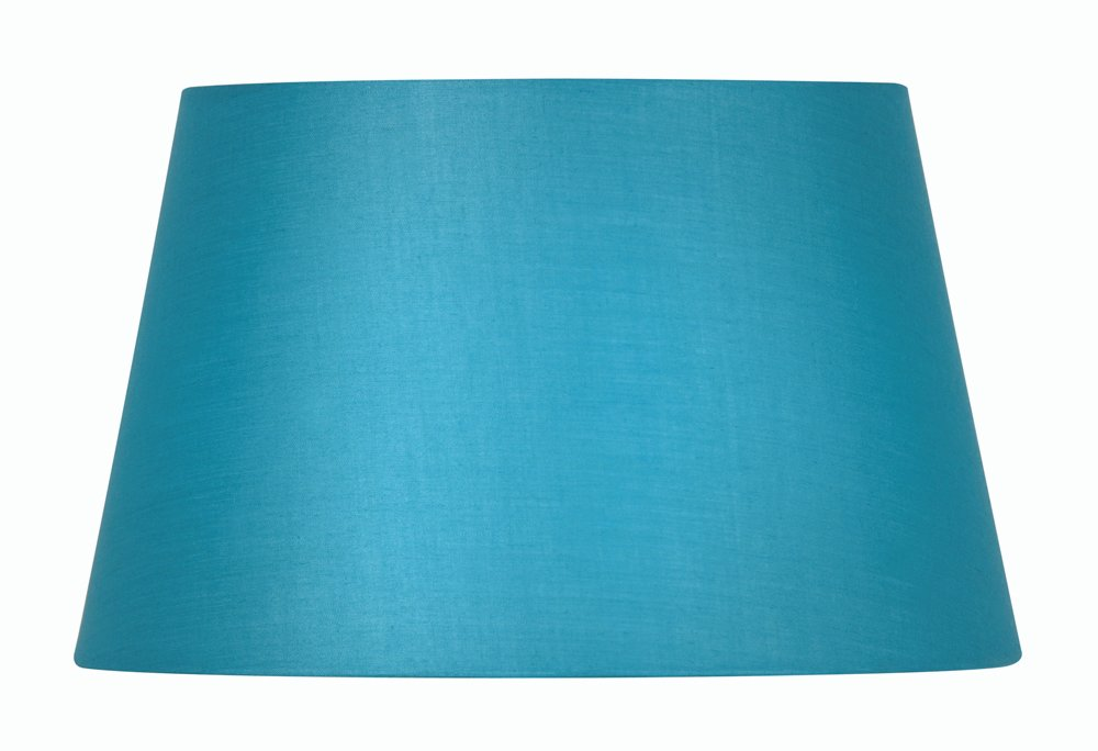 Pantalla cil/índrica para l/ámpara algod/ón, 20 cm Oaks Lighting color azul