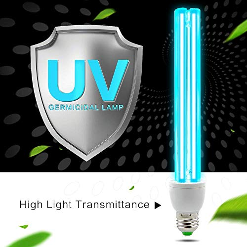 Wand Light Uvc (Air Purifier To Sterilization Lamp UVC Anti-Bacterial Rate 100% Portable UV-C LED Sanitizer Disinfect Light Ultraviolet Germicidal Lamp 15W)