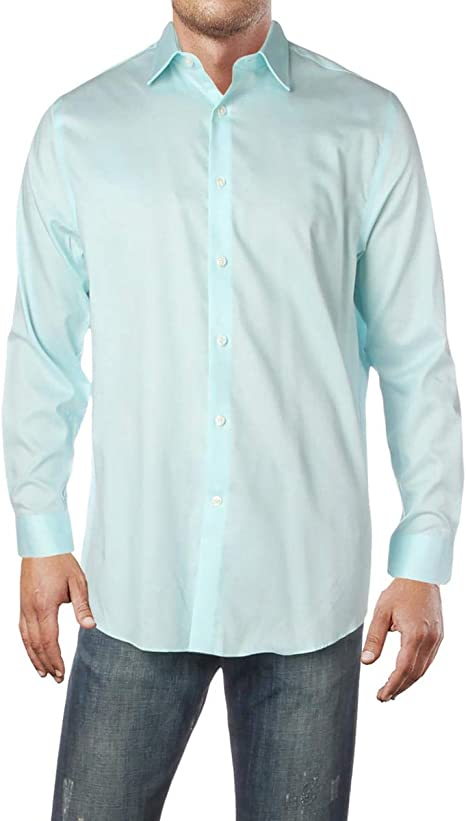 Michael Kors Camisa de corte regular para hombre, sin ...