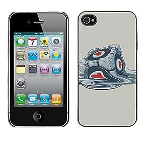 Caucho caso de Shell duro de la cubierta de accesorios de protección BY RAYDREAMMM - iPhone 4 / 4S - Portal Box