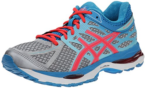 ASICS Women's Gel-cumulus 17 Running Shoe, Silver/Hot Pink/Turquoise, 6 M US