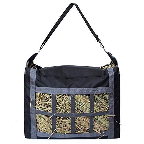 (AOLVO Hay Tote Bag, Hay Storage Bag Top Load Large Capacity Hay Feeder Bag Front Divider Slow Feed Hay Bag Durable Hay Carrying Bag - 600D Oxford Cloth)