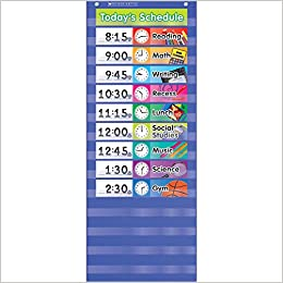 Amazon daily schedule pocket chart teacher s friend scholastic