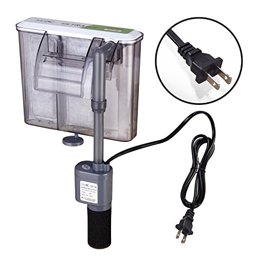 Utopia Hang-on Filter 4.5W 92GPH(350L/H) External Hanging Fish Tank Filter for Water Circulation System in Uncovered Small Tanks (Model: QF-M)
