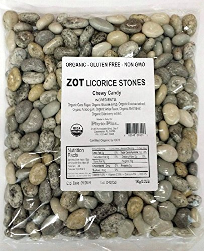 ZOT Chewy Licorice Stones In Bulk, 2.2 - Stone Candy