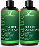 ArtNaturals Tea Tree Shampoo and Conditioner Set - (2 x 16 Fl Oz / 473ml) - Sulfate Free - Therapeutic Grade Tea Tree Essential Oil - Deep Cleansing for Dandruff