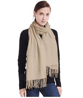 LeKuni Écharpe Châle Cachemire Femme Homme Unisex, Foulard couleur  pure,écharpe en cachemire, d25c1b2af8b9