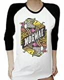 Rock Lands T Shirt Mogwai T-Shirt Long Sleeve White (Large)