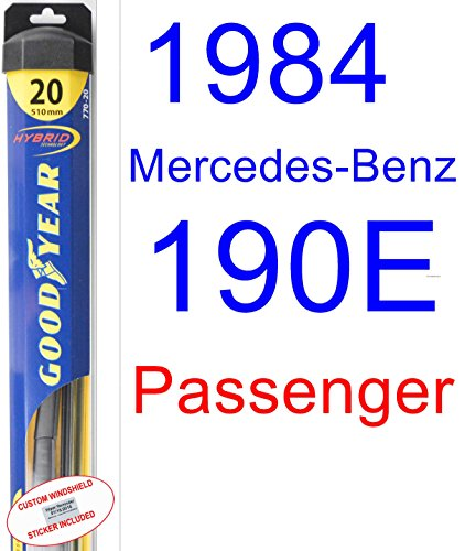 1984 Mercedes-Benz 190E Wiper Blade (Passenger) (Goodyear Wiper Blades-Hybrid) ()