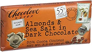 product image for Chocolove Xoxox Premium Chocolate Bar - Dark Chocolate - Almonds and Sea Salt - 3.2 oz Bars - Case of 12